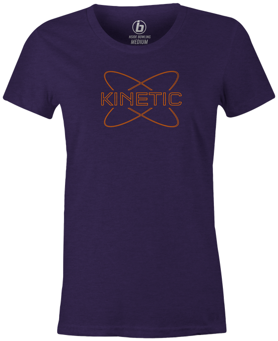 Kinetic Women's T-Shirt, Purple, bowling, bowling ball, track bowling, smart bowling, tshirt, tee, tee-shirt, tee shirt