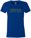 Nitro/R Women's T-Shirt, Blue, Bowling, bowling ball, ebonite, throwback, retro, vintage, old school, tshirt, tee, tee-shirt, tee shirt.