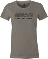 Nitro/R Women's T-Shirt, Grey, Bowling, bowling ball, ebonite, throwback, retro, vintage, old school, tshirt, tee, tee-shirt, tee shirt.