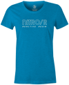 Nitro/R Women's T-Shirt, Light blue, Bowling, bowling ball, ebonite, throwback, retro, vintage, old school, tshirt, tee, tee-shirt, tee shirt.