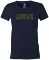 Nitro/R Women's T-Shirt, Navy, Bowling, bowling ball, ebonite, throwback, retro, vintage, old school, tshirt, tee, tee-shirt, tee shirt.