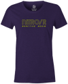 Nitro/R Women's T-Shirt, Purple, Bowling, bowling ball, ebonite, throwback, retro, vintage, old school, tshirt, tee, tee-shirt, tee shirt.