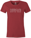 Nitro/R Women's T-Shirt, Red, Bowling, bowling ball, ebonite, throwback, retro, vintage, old school, tshirt, tee, tee-shirt, tee shirt.