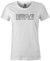 Nitro/R Women's T-Shirt, White, Bowling, bowling ball, ebonite, throwback, retro, vintage, old school, tshirt, tee, tee-shirt, tee shirt.