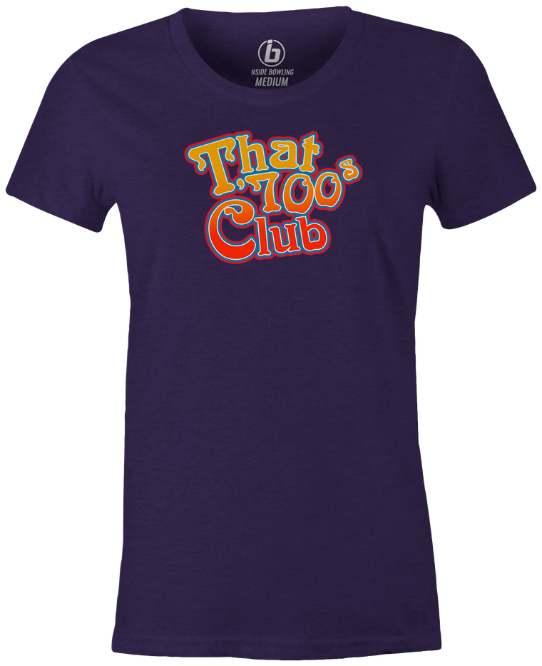 That 700's Club Bowling T-Shirt Women's Purple