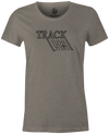 Track Retro Women's T-Shirt, Grey, track, track bowling, track logo, logo, bowling ball, team ebi, old school, retro, throwback, vintage, tshirt, tee tee shirt, tee-shirt.