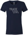 Track Retro Women's T-Shirt, Navy, track, track bowling, track logo, logo, bowling ball, team ebi, old school, retro, throwback, vintage, tshirt, tee tee shirt, tee-shirt.