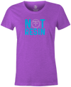 Not Resin Women's T-Shirt, Light Purple, Funny, bowling, tshirt, tee, tee-shirt, tee shirt, urethane, purple hammer, black hammer, hammer bowling, faball, old school, cool.