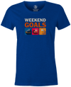 Weekend Goals Women's T-shirt, Blue, Bowling, tshirt, tee, tee-shirt, tee shirt