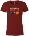 Weekend Goals Women's T-shirt, Dark Red, Bowling, tshirt, tee, tee-shirt, tee shirt