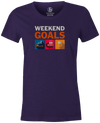 Weekend Goals Women's T-shirt, Purple, Bowling, tshirt, tee, tee-shirt, tee shirt