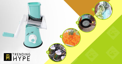 3-Blade Spiral Vegetable Slicer