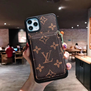 Luxury Phone Case with Card Holder Trending Hype