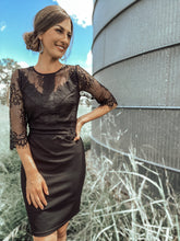 Bonnie Black Lace Detail Dress