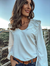 Hannah Off White Ruffle Blouse