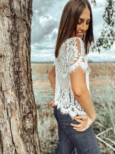 Layla White Lace Top