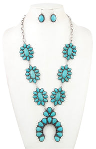 Turquoise Gemstone Orante Necklace Set