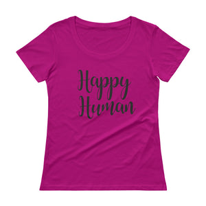 Happy Human - Ladies' Scoopneck T-Shirt