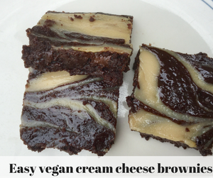 Vegan Cream Cheese Brownie Recipe
