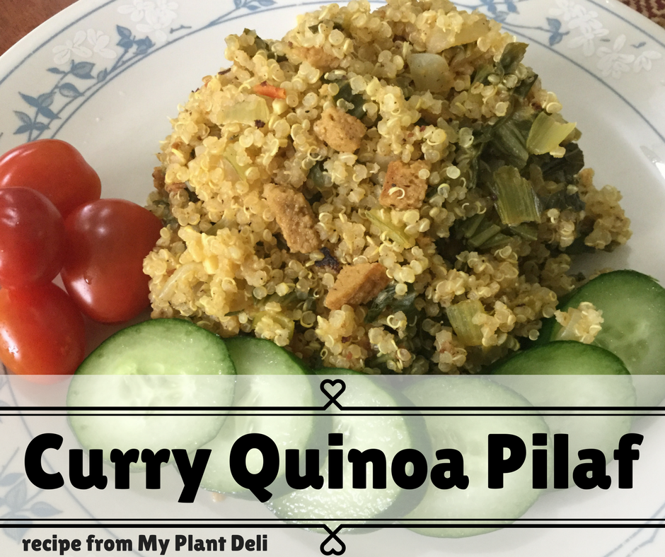 Vegan Curry Quinoa Pilaf