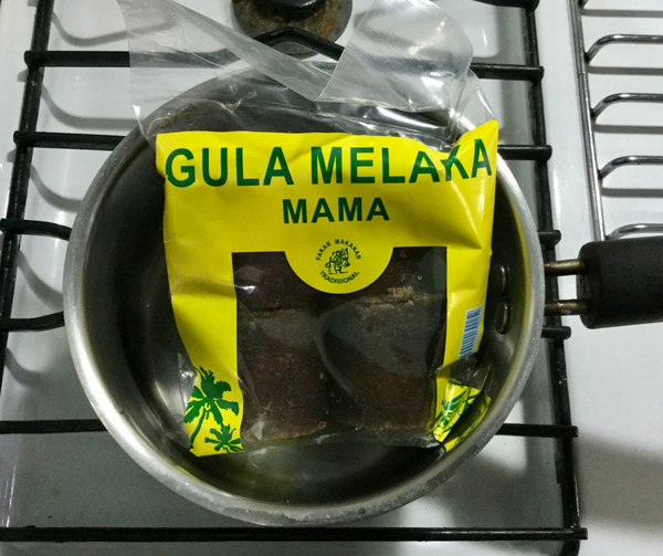 How to make gula melaka syrup