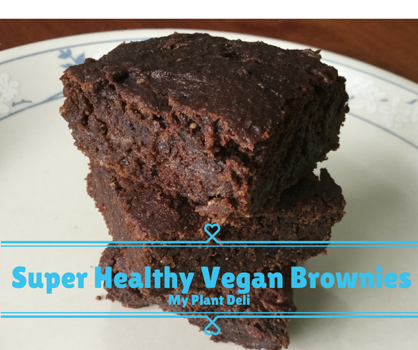 Super Healthy Vegan Brownies - Gluten Free