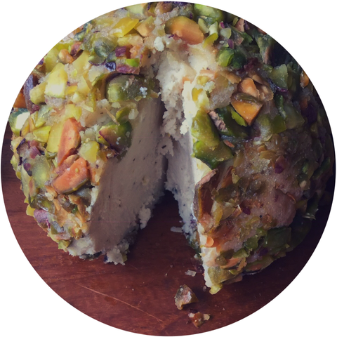 Vegan Lemon Pepper Pistachio Cheese Ball