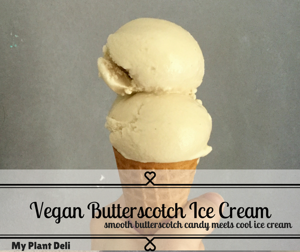 Vegan Butterscotch Ice Cream 1 L tub