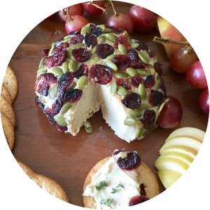 Vegan Cranberry Pumpkin Seed Cheese Ball