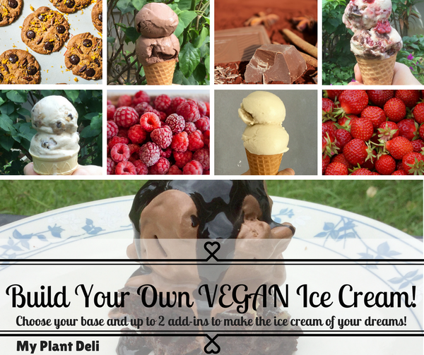 Vegan Ice Cream - Build Your Own Flavor! 1 L tub