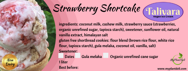 Vegan Strawberry Shortcake Ice Cream 1 L tub