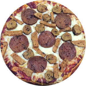 Vegan Frozen Pizza - Meatless Meat Lovers