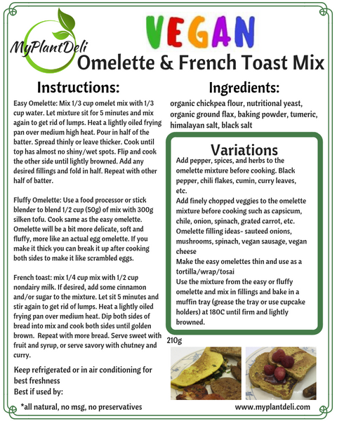 Vegan Omelet and French Toast Mix