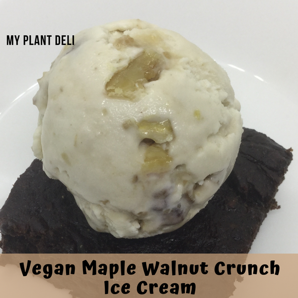 Vegan Maple Walnut Crunch Ice Cream 1 L tub