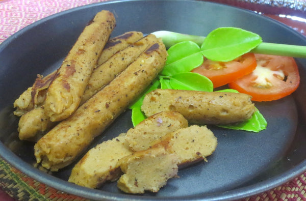 Vegan Siamese Sausages