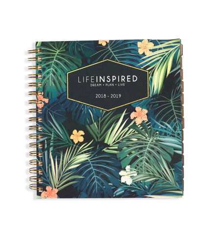Academic 2018-19 Planner: Tropical