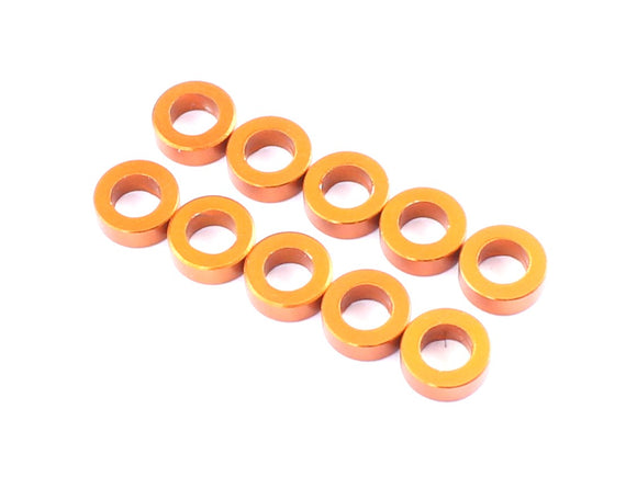 D10095 3x5.5x1.0mm Aluminum Spacer (Orange), 10 pcs