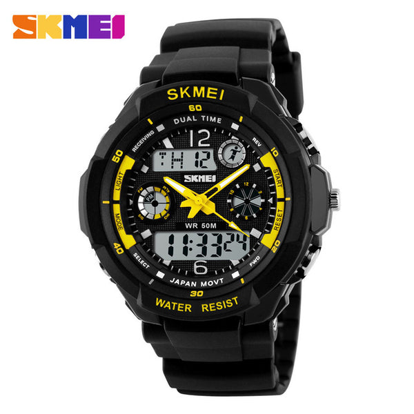 SKMEI Men's Sports Dual Time Wristwatch/7 Colors Available