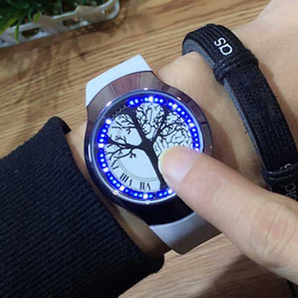 GSWP Brand Creative Minimalist Touch Screen Smart LED Watch Waterproof Creative Men Watch Electronics Casual Women Watches