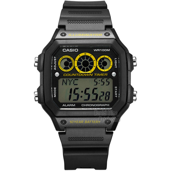 Casio Digital Men's Watch/10 Colors Available