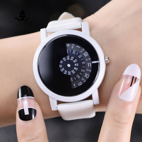 Creative Circular Half-Faced Women's Watch