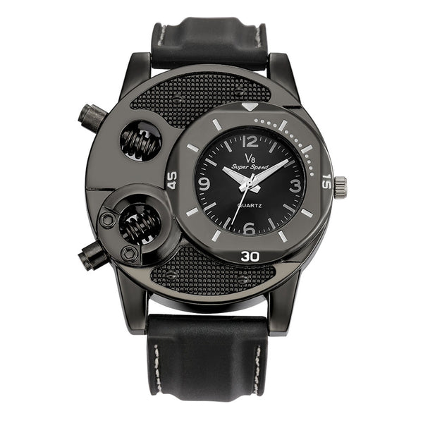 Men's Thin Silica Gel Student Sports Quartz Watch
