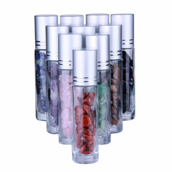 10 Gemstone Roller Ball Dispensers For Essential Oils