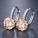 EMMAYA Fashion 10 Colors AAA CZ Element Stud Earrings