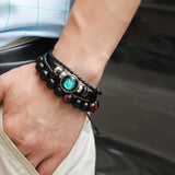 Constellation/Zodiac Sign Leather Bracelet