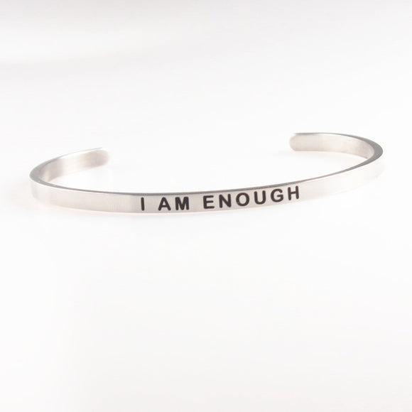 Customized Inspirational Stainless Steel Bracelets