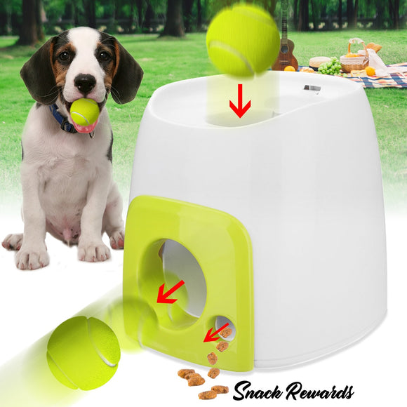 Automatic Interactive Dog Tennis Ball Launcher Throwing Machine for Training and Playing