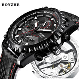 BOYZHE Men's Mechanical Watch/Leather Band