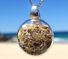 Noosa Shelly Sand Pendant | 25mm x 25mm x 5mm