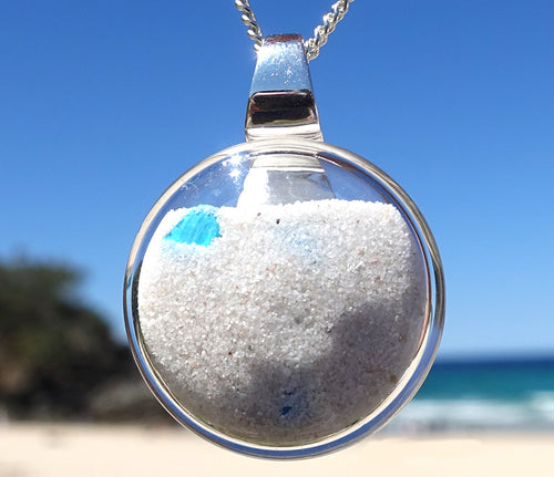 Noosa Dune Pendant with Turquoise | 25mm diameter